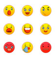 Different type of emotion icons set flat style