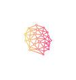 digital human head logo icon design vector image vector image