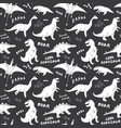 Dino seamless pattern cute cartoon hand drawn