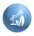 electric eco energy icon simple style vector image vector image