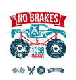 Emblem of the massive car in retro style vector image vector image