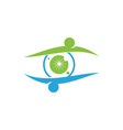 eye care health logo design template icon vector image vector image