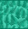 fern seamless pattern exotic background nature vector image vector image