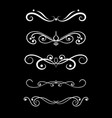 floral decorative ornament on black background vector image