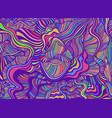funky bright abstract lines art pattern rainbow vector image vector image