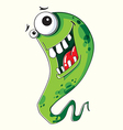 Funny green monster vector image vector image