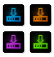 glowing neon loading icon isolated on white vector image vector image