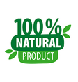 Green logo for 100 natural products