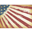 Grunge Aged American Flag Background Horizontal vector image vector image