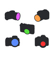 Icons of Photocameras vector image vector image