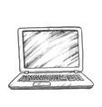 laptop computer digital gadget monochrome vector image vector image