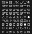 laundry icons and washing symbols vector image