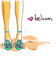 legs woman in fashion shoes vector image vector image