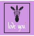 Love you Valentines day template vector image vector image
