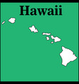 map hawaii us state vector image vector image