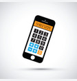 mobile phone calculator vector image vector image