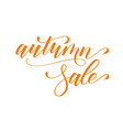 modern brush calligraphy autumn sale vector image vector image