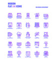 modern flat line icons design-web design vector image