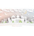 montgomery alabama usa city skyline in paper cut vector image vector image