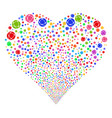 network fireworks heart vector image vector image
