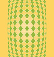 orange and green rhombus texture vector image vector image