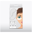 package of hydrating under eye gel patches vector image vector image