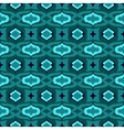 Pattern with Arabic motifs in jade and blue vector image