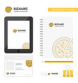 pizza business logo tab app diary pvc employee vector image vector image