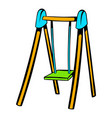 playground swing icon icon cartoon vector image