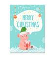 postcard merry christmas 2019 vector image
