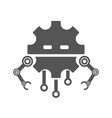 robot head line icon sign pictogram vector image vector image