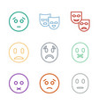 sadness icons vector image vector image