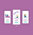 seniors sparetime mobile app page onboard screen vector image vector image