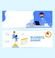set horizontal banner business process deadline vector image vector image