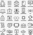 Set of seo and internet service icons - part 4 vector image vector image