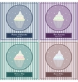 Set of templates with cute hand drawn cupcake vector image vector image