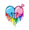 skull heart shape vector image vector image