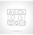 Smart house system detailed flat line icon vector image vector image
