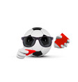 soccer ball faceless cartoon mascot character vector image