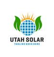 solar power grid logo vector image vector image