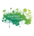 spring floral banner vector image vector image