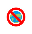 Stop Earth Forbidden World Atlas Frozen World vector image vector image