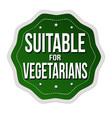 suitable for vegetarians label or sticker vector image