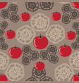 tomato decor-vegi delight seamless repeat pattern vector image