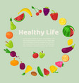 vegetables fruits and berries vector image