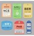 vintage travel luggage tags vector image vector image