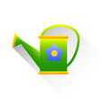 watering can with water business concept flat vector image