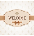 Welcome retro banner vector image