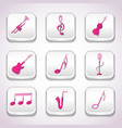 3d colorful music icon set vector image vector image