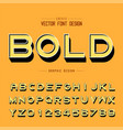 3d font and alphabet shadow bold typeface letter vector image